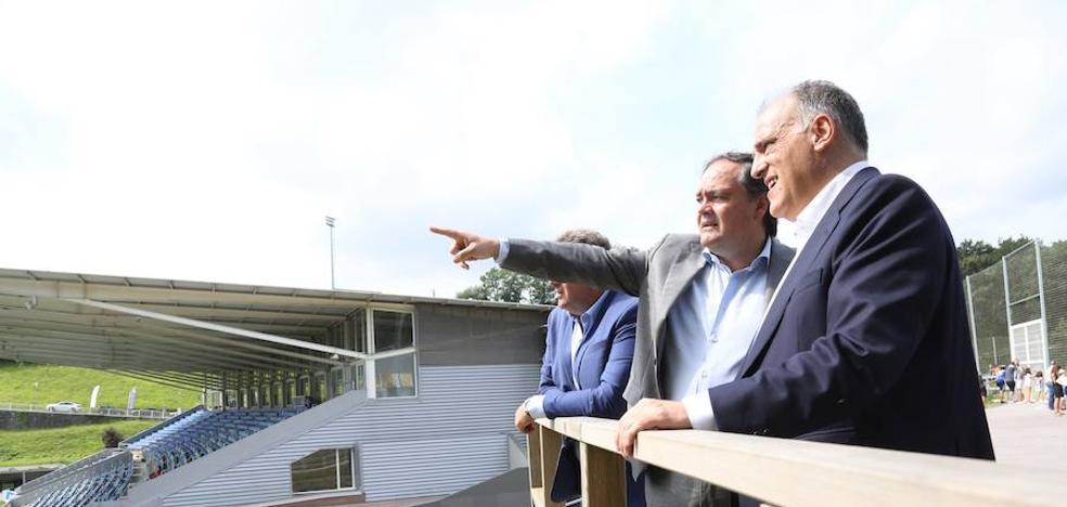 Javier Tebas visita Zubieta