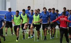 Las imágenes del entrenamiento de hoy en Zubieta