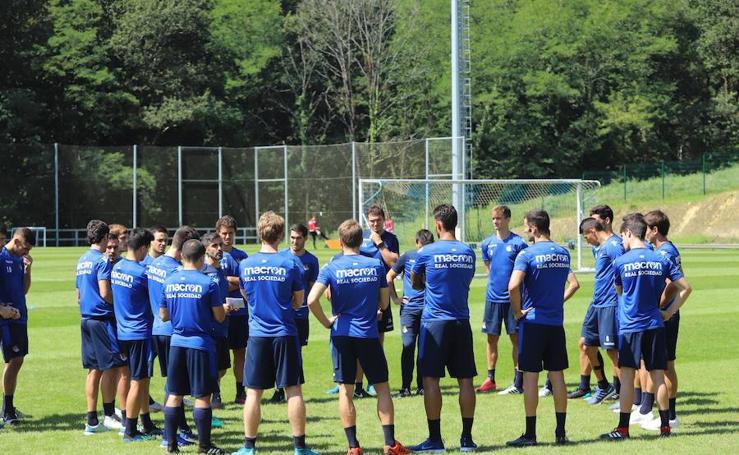 La Real Sociedad sigue trabajando en Zubieta