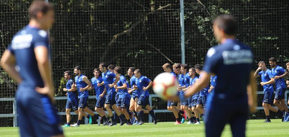 Agirretxe brilla en el entrenamiento de la Real Sociedad en Zubieta