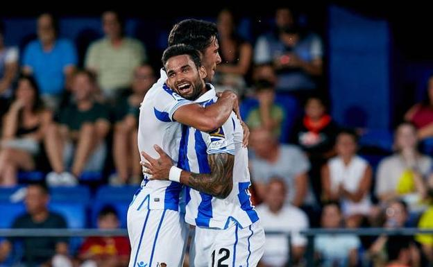 Willian José celebra el gol anotado frente al Villarreal. /D. Aliaga