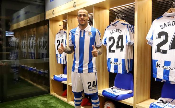 La Real Sociedad presenta de forma oficial a Sandro