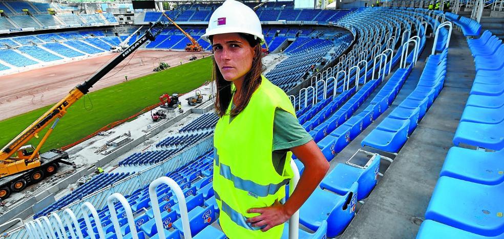 Sandra Ramajo: «El nuevo Anoeta me recuerda a los grandes campos de Europa»