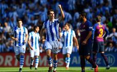 El beasaindarra Aritz Elustondo firmó el gol 3.300 de la Real Sociedad en Primera División