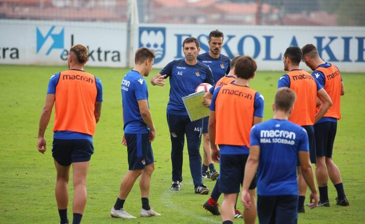 Willian José se ejercita junto al grupo