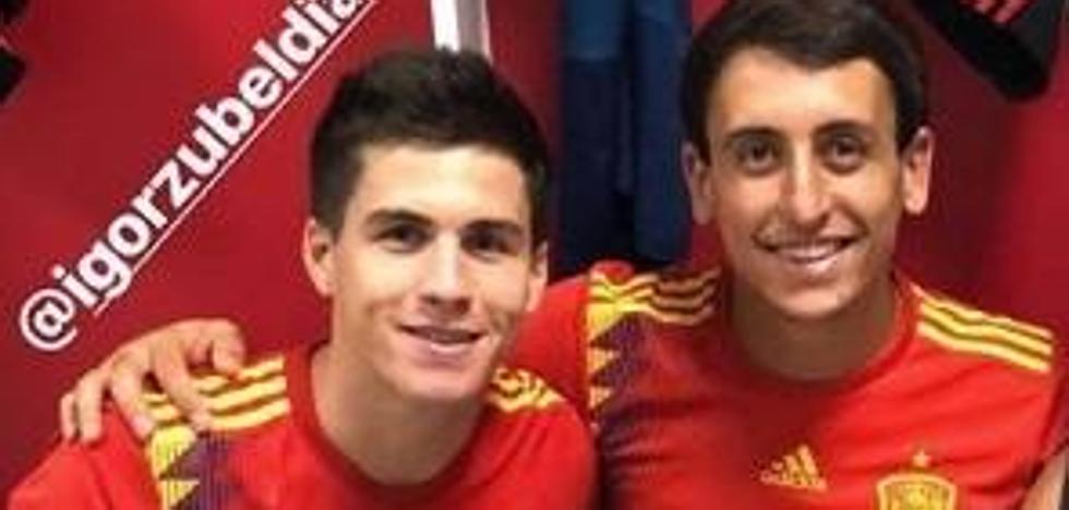 Zubeldia y Oyarzabal, convocados por la selección sub21