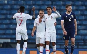 Kevin asiste y Bruma marca con Portugal ante Escocia