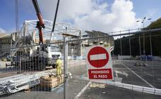 Las obras en Anoeta obligan a cerrar el aparcamiento cercano al estadio