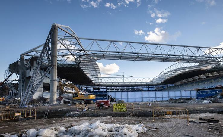 Avanzan las obras en el estadio de Anoeta