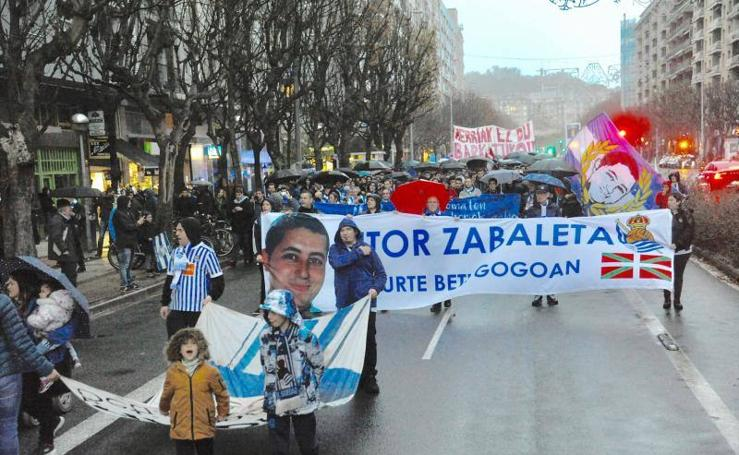 Homenaje a Aitor Zabaleta en San Sebastián
