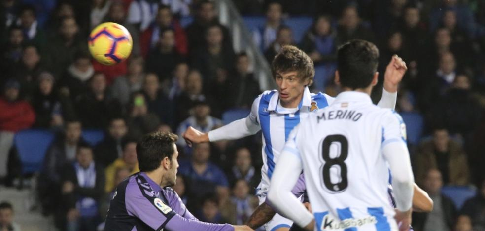 El uno a uno de la Real en la derrota frente al Valladolid