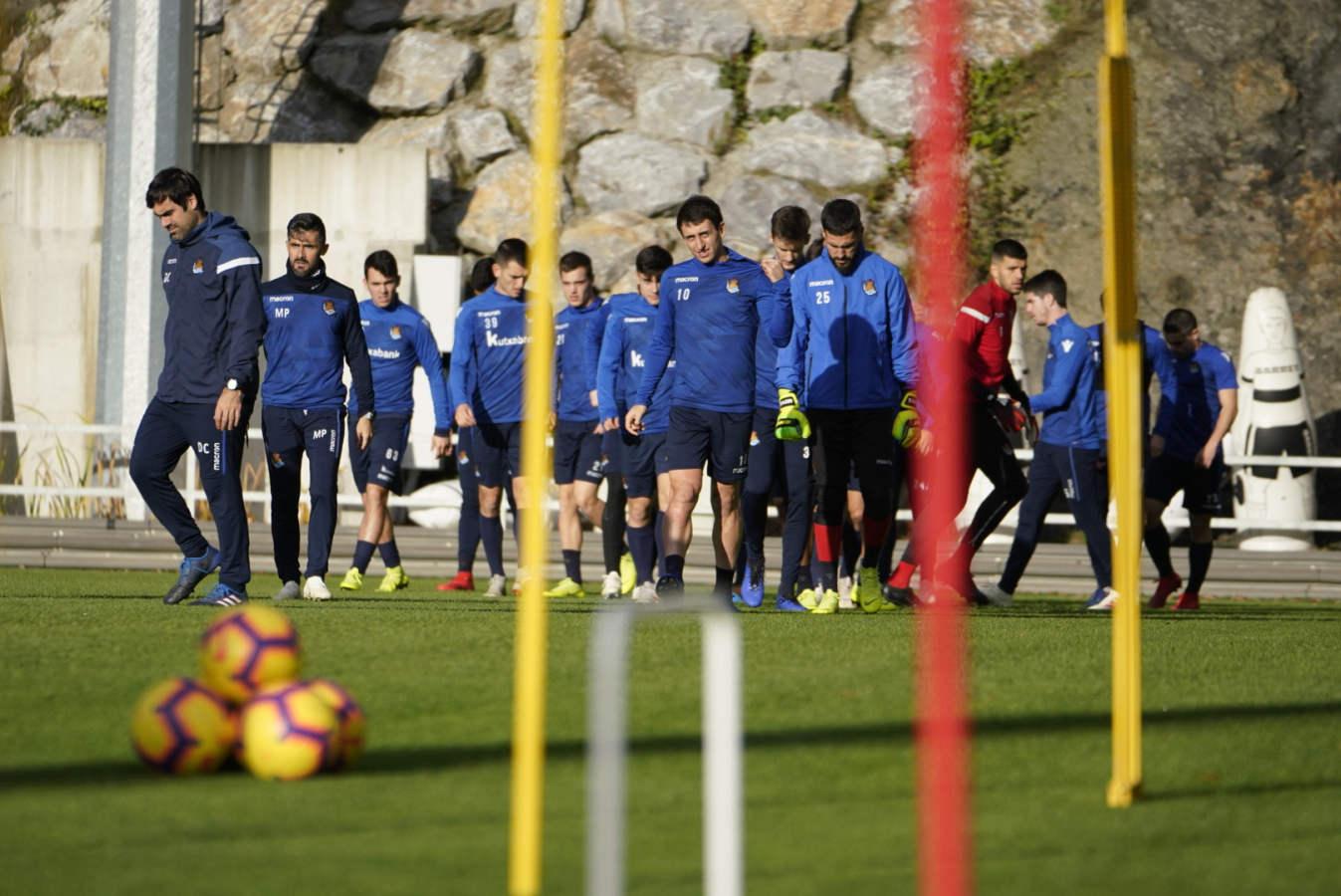 La Real Sociedad prepara el partido contra el Alavés