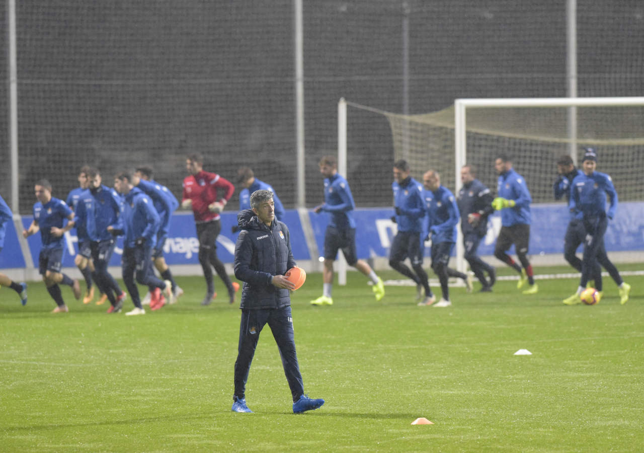 Alguacil se estrena como entrenador de la Real Sociedad