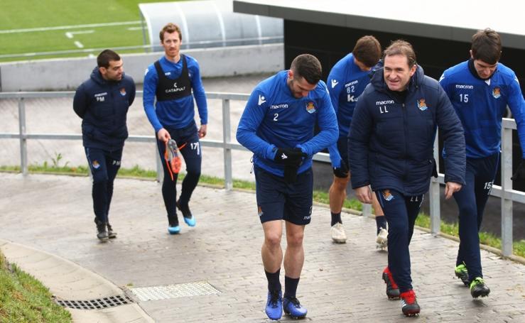 La Real Sociedad se prepara para el Huesca