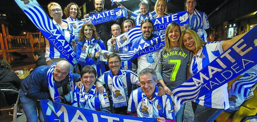 La afición de la Real Sociedad se moviliza para ganar otro derbi en Anoeta