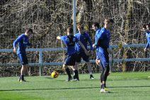Penúltimo entrenamiento de la Real Sociedad antes de recibir al Leganés