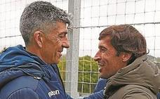 Raúl, de visita en Zubieta para seguir su formación