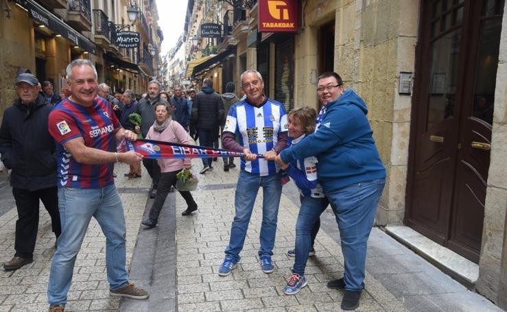 La afición se vuelca con la Real Sociedad y el Eibar