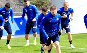 Aperribay y Olabe apoyan al equipo en Zubieta