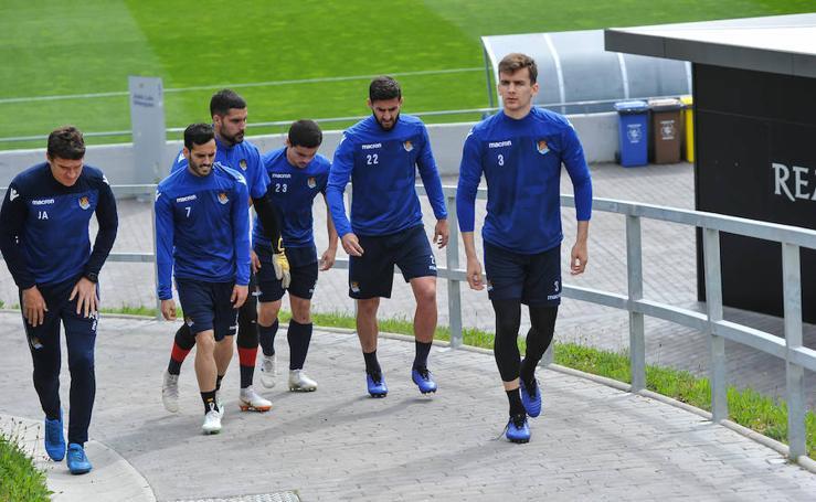 La Real prepara el choque ante el Barcelona