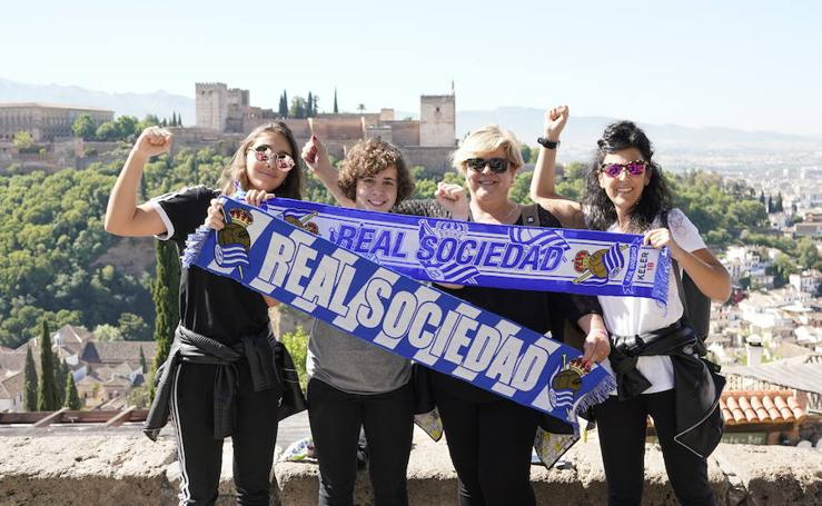 La afición de la Real Sociedad en Granada