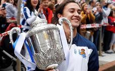 La Real Sociedad ofrecerá este viernes la Copa de la Reina a la afición