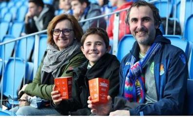 El compost con las cáscaras de pipas recogidas en los partidos de la Real Sociedad en Anoeta estará listo el próximo año