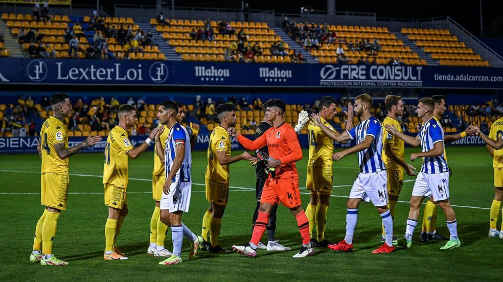 Las mejores imágenes del partido entre el Alcorcón y la Real Sociedad B
