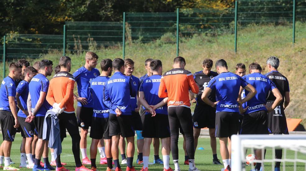 Imágenes del último entrenamiento antes del choque contra el Sturm Graz