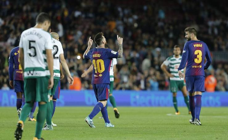 El Eibar sale goleado del Camp Nou
