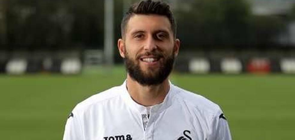 Borja Bastón, a punto de aterrizar en el Alavés cedido por el Swansea