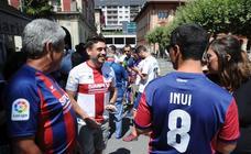 La afición del Eibar se prepara para el partido