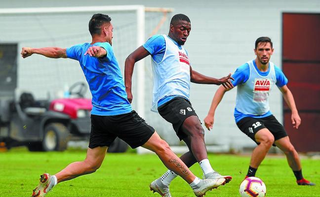 Diop es duda para el Wanda por un golpe en la rodilla