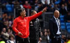 Mendilibar: «Sin jugar bien, el Madrid tiene ocasiones y las aprovecha»
