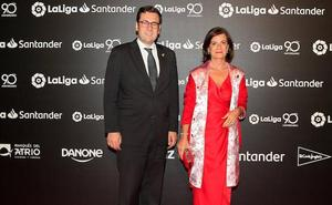 El Eibar, en la gala por los 90 años de la Liga