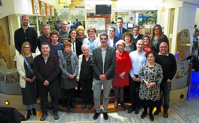 Los galardonados cenaron con el alcalde y los concejales