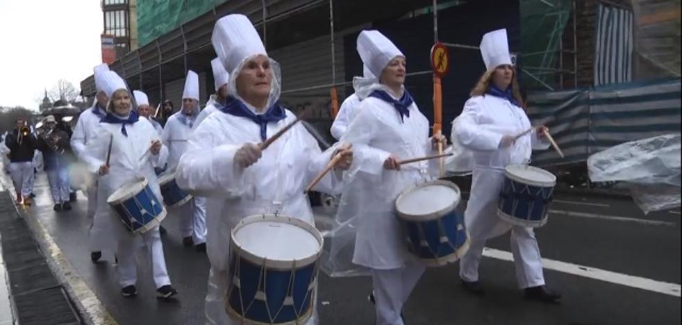 Vídeo: La tamborrada de Jatorra hizo honor a su nombre