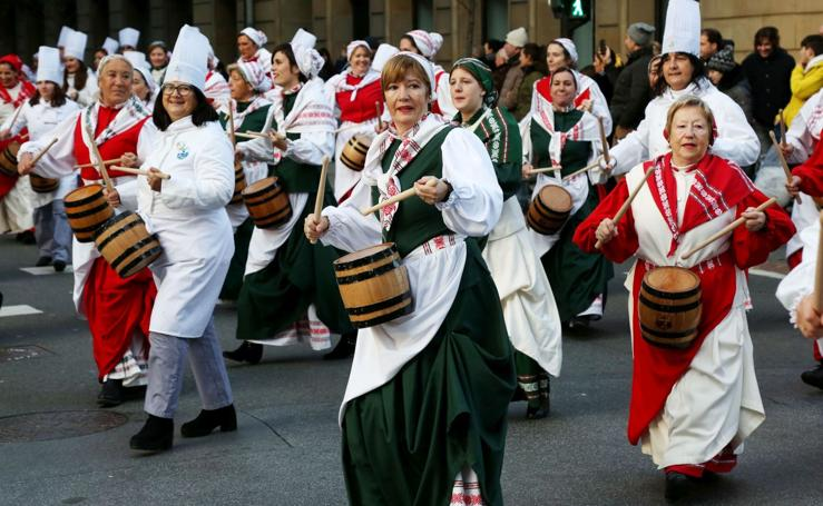 Gaztedi vuelve a sonar por las calles del Centro de San Sebastián