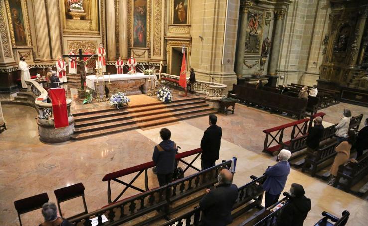 Las imágenes de la misa en Santa María
