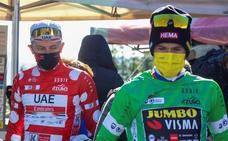 Primoz Roglic y Tadej Pogacar: rivales sí, pero en buena sintonía