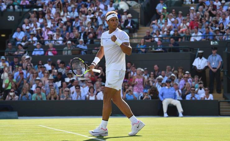 El partido entre Rafa Nadal y John Millman, en imágenes