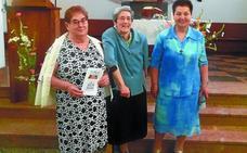 Las hermanas Kontxi, Pili y Consuelo celebraron sus 50 años de vida religiosa