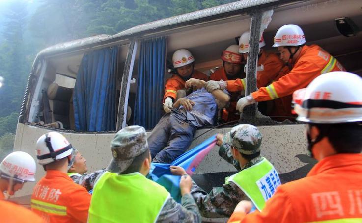 Dramático rescate tras un terremoto en el suroeste de China