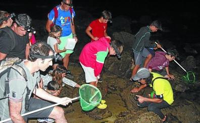 Las mareas vivas de septiembre dan opción de disfrutar de la experiencia 'flysch at night'