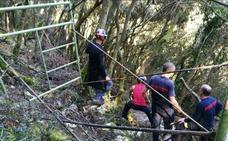 Rescatado en helicóptero un montañero herido en el monte Arno