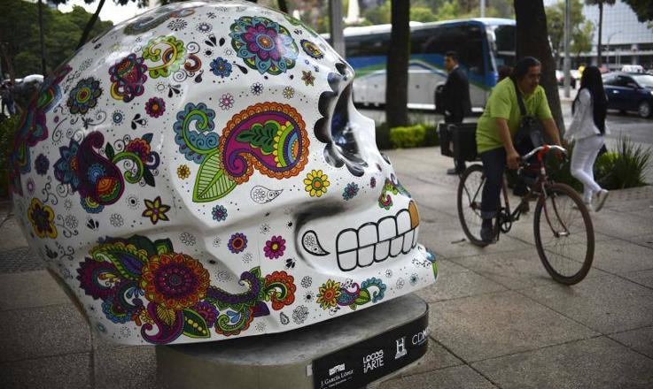 Coloridas calaveras en Ciudad de México
