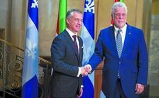 Urkullu reafirma en Quebec su 'vía vasca' para un pacto alejado de la unilateralidad