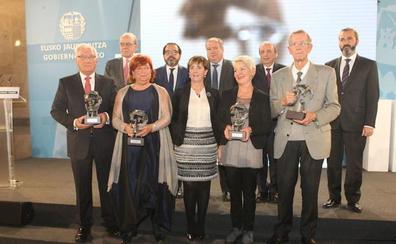 Antxon Garmendia, Juan Félix Palacios, Martín Ceballos y Félix Lascaray, premios Korta 2017