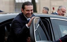 Hariri se reúne con Macron en París para desbloquear la crisis libanesa