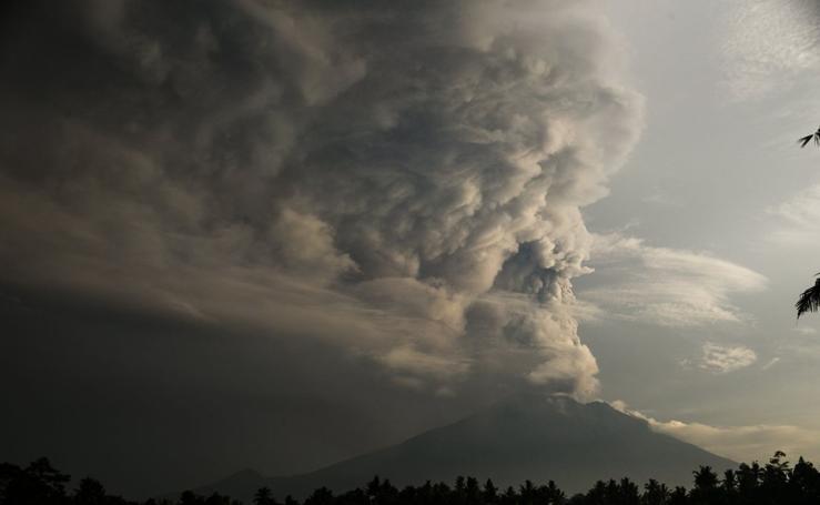 Erupción volcánica en Bali